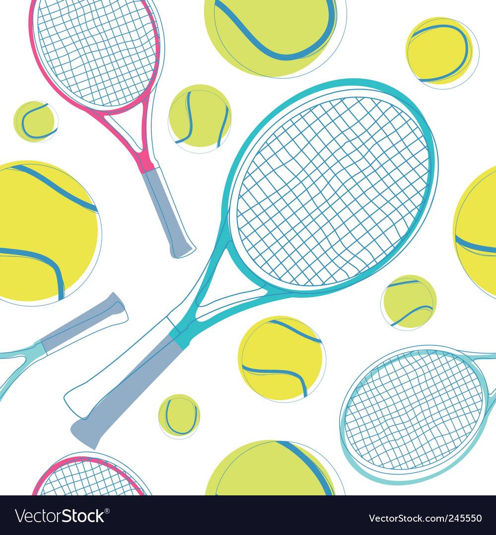 Tennis pattern vector