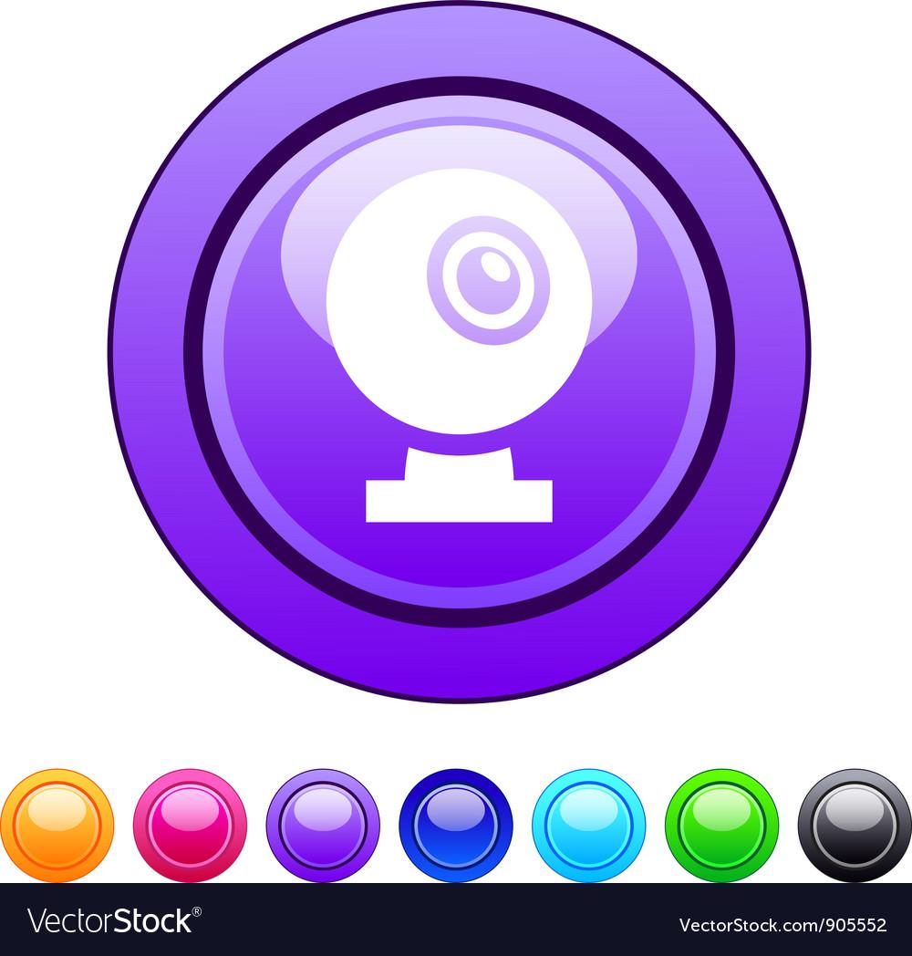 Webcam circle button vector