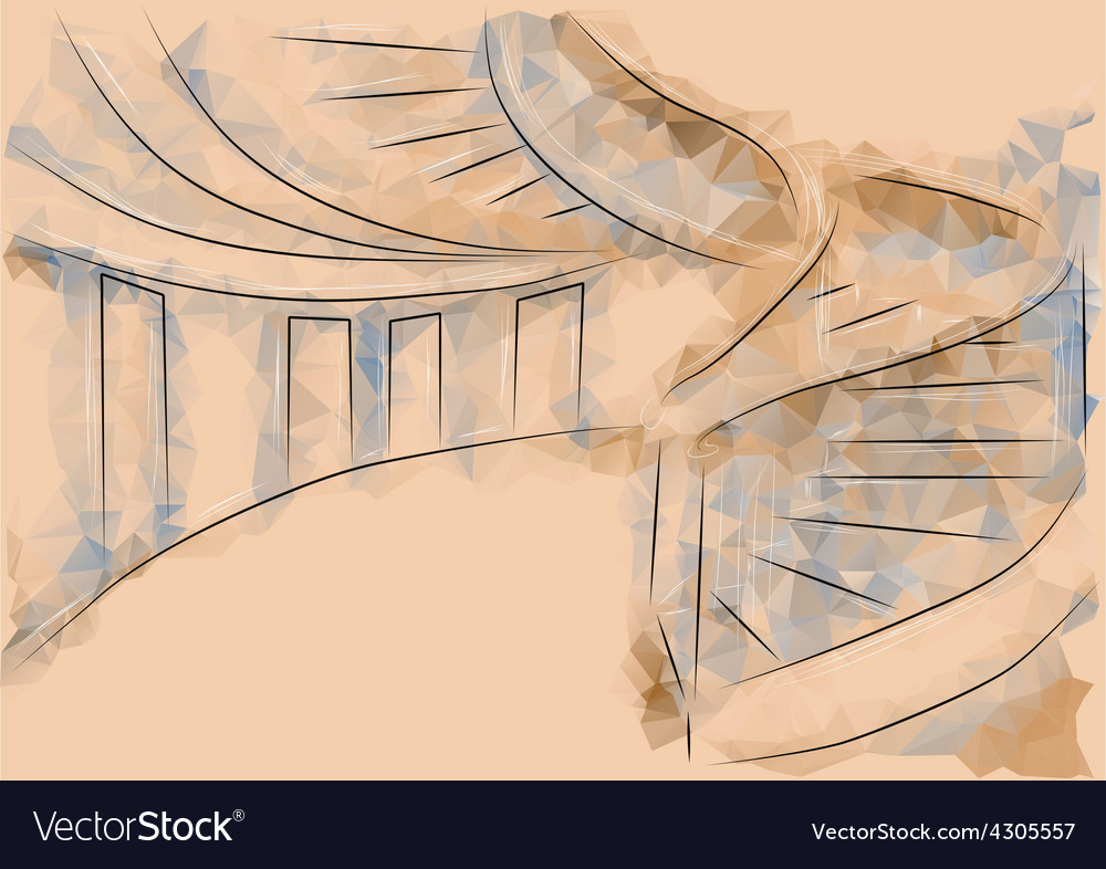 Office stairs vector