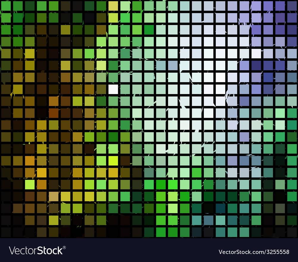 Block mosaic pattern vector