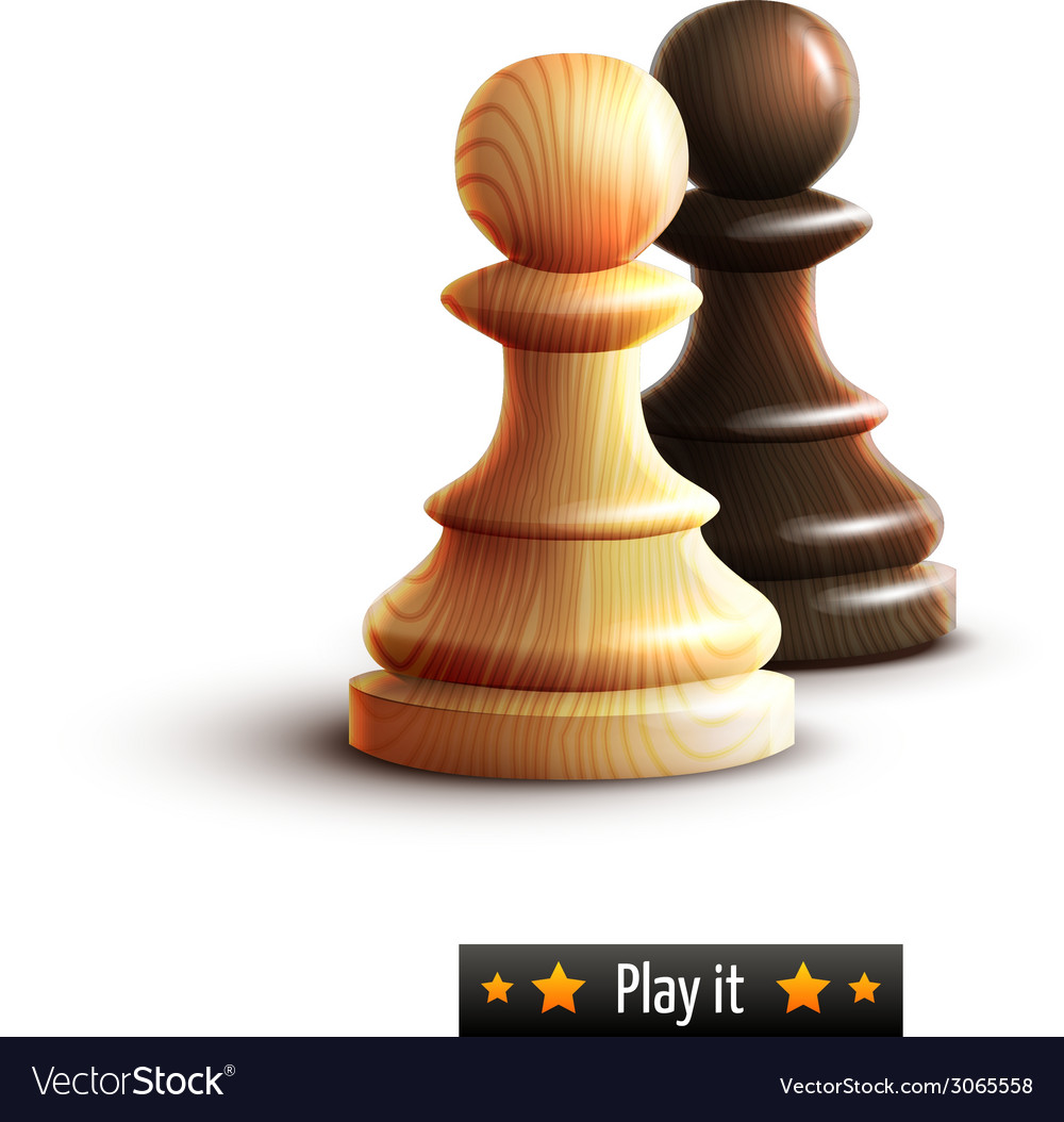 Chess pawns isolated vector