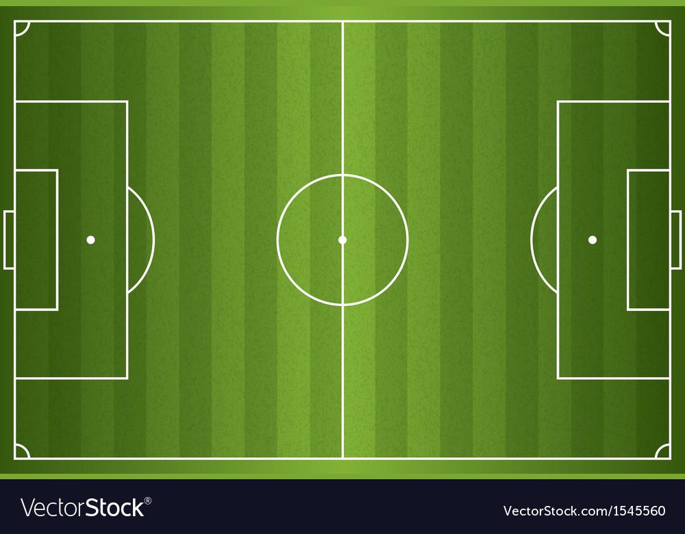 Grass textured soccer field vector