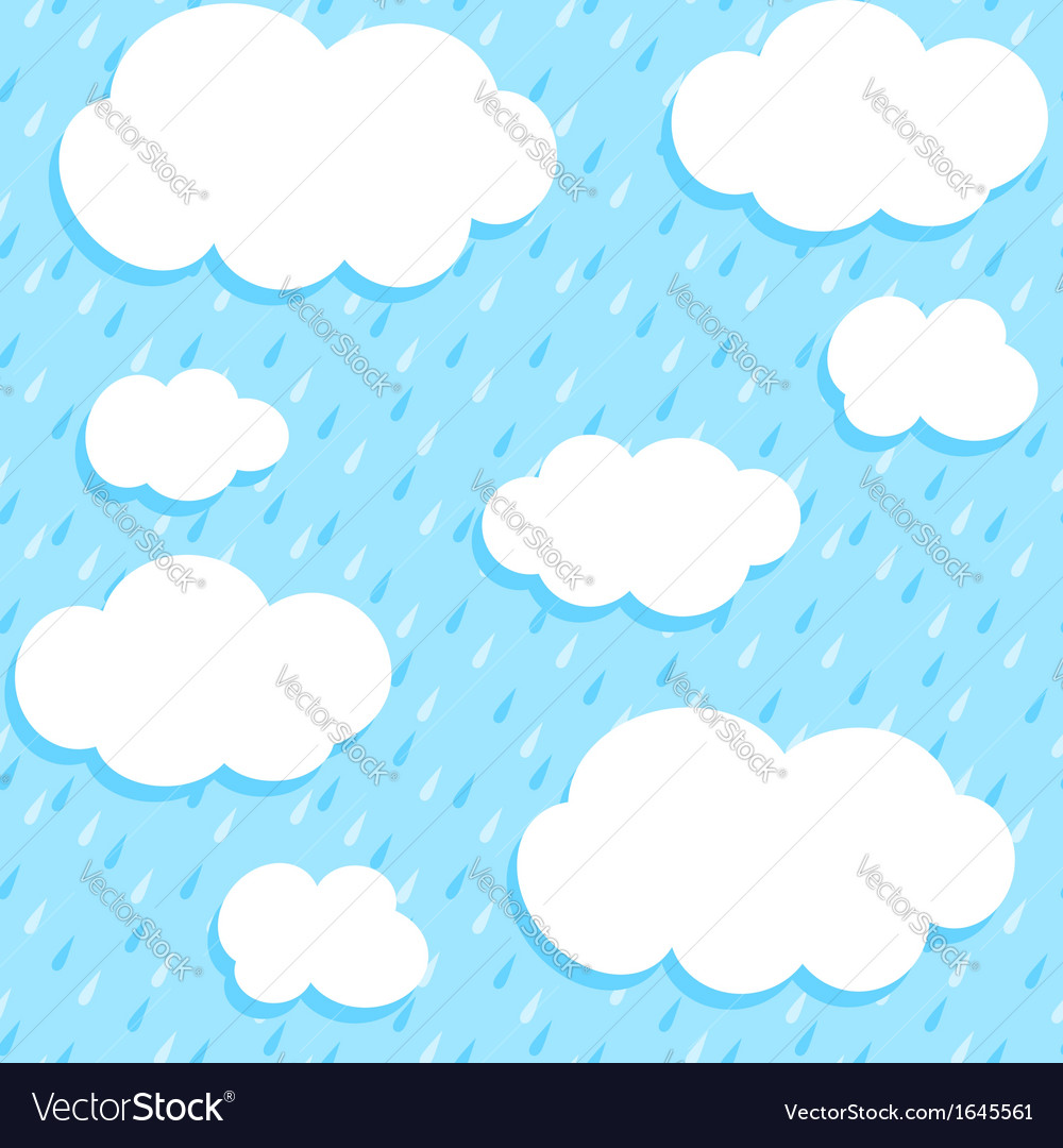 Autumn rain vector