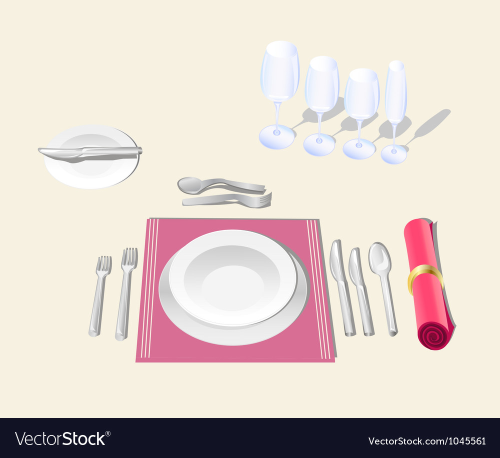 Table setting vector