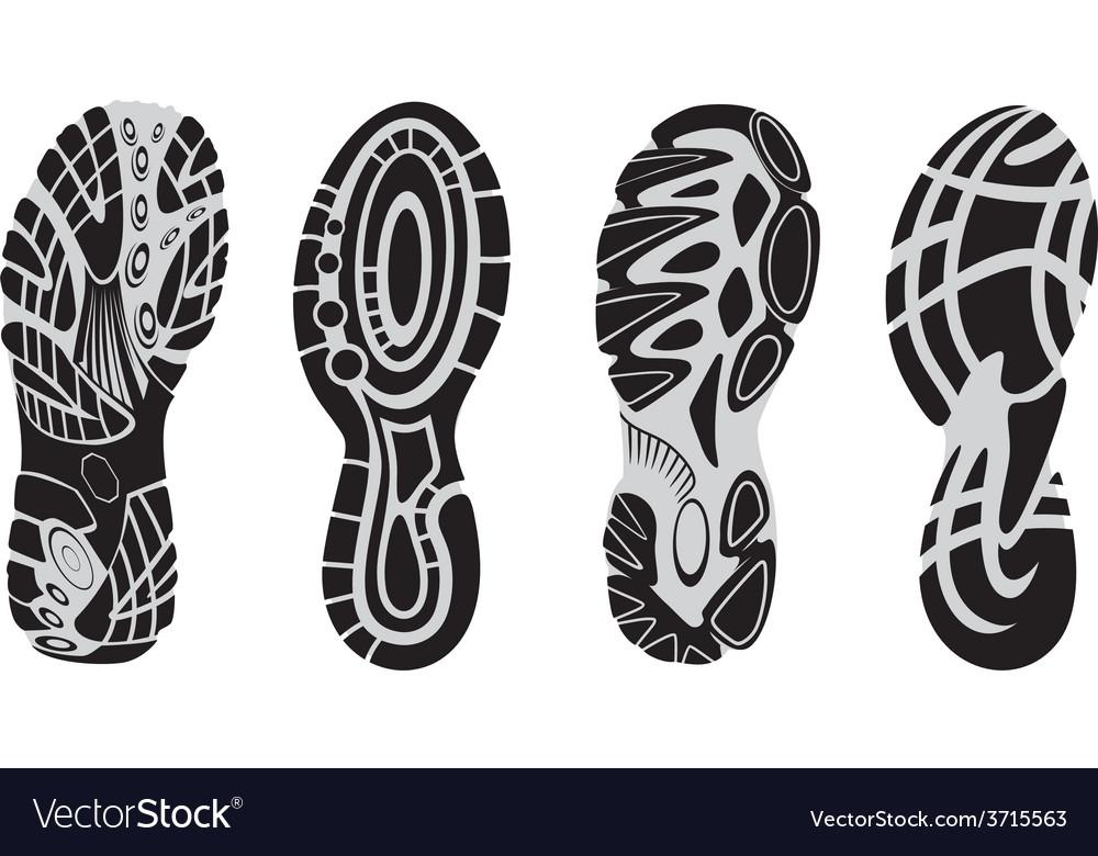 Footprint sport shoes 3 vector