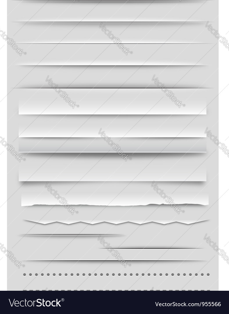 Web dividers and rulers vector