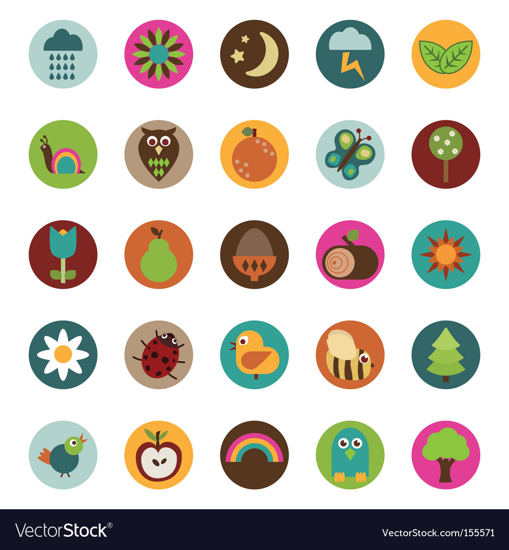 Nature badges vector