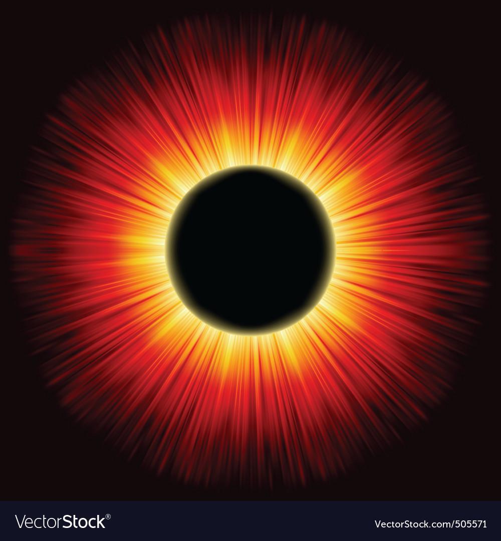 Solar eclipse shine light eps 8 vector