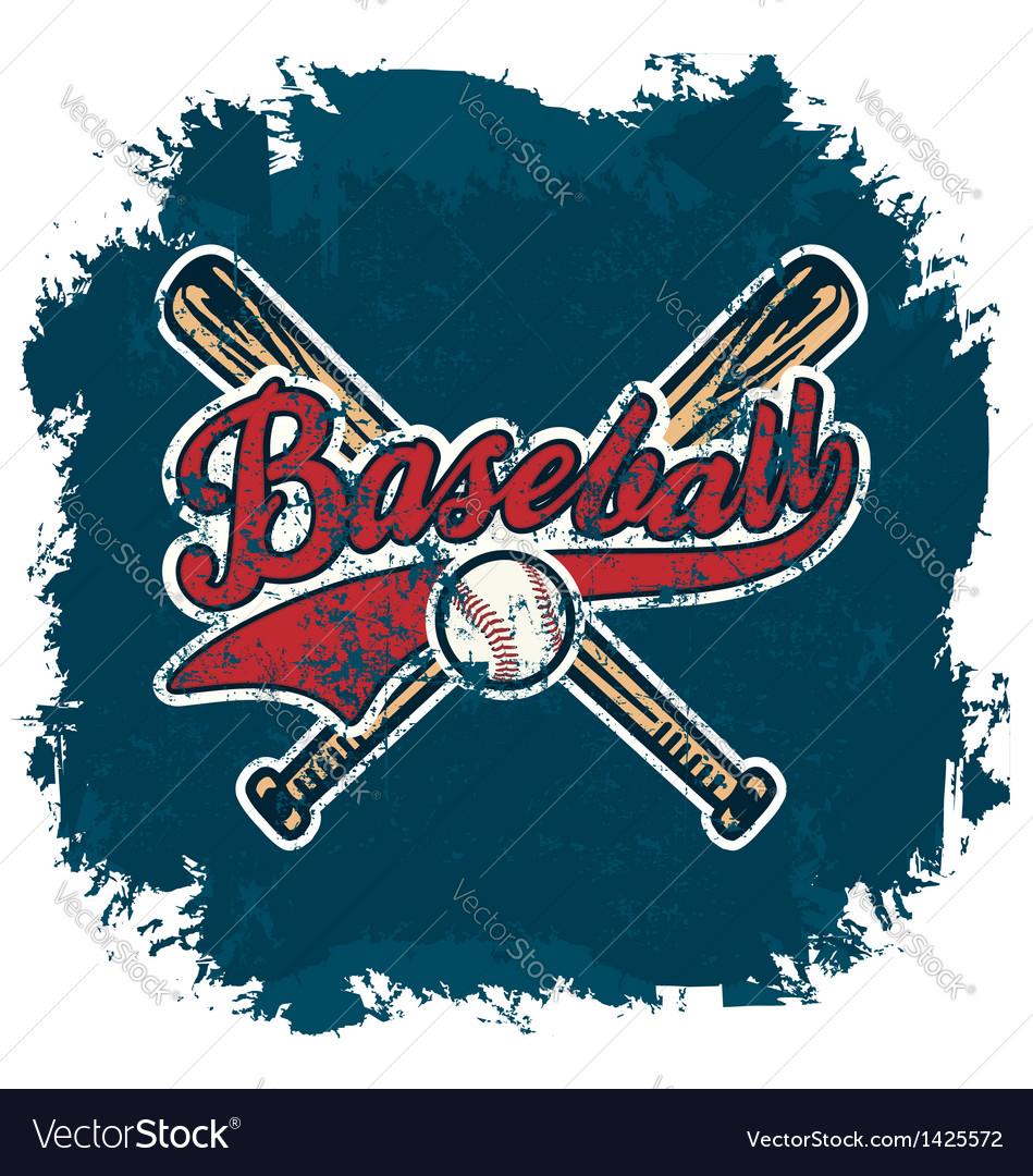 Baseball crack vector