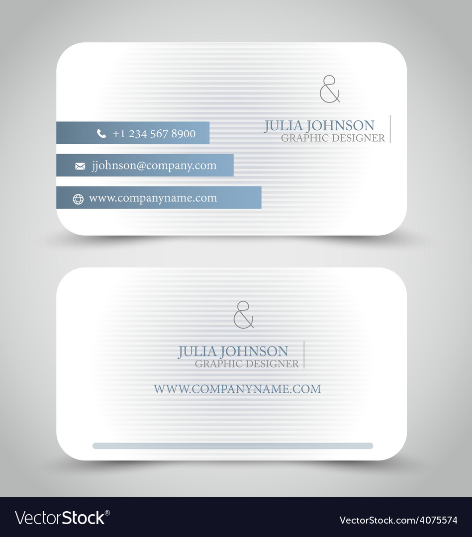 Business card design set template vector