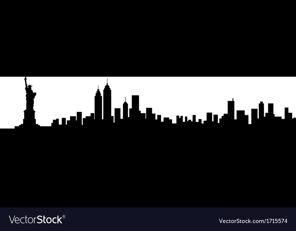 New york city skyline silhouette vector