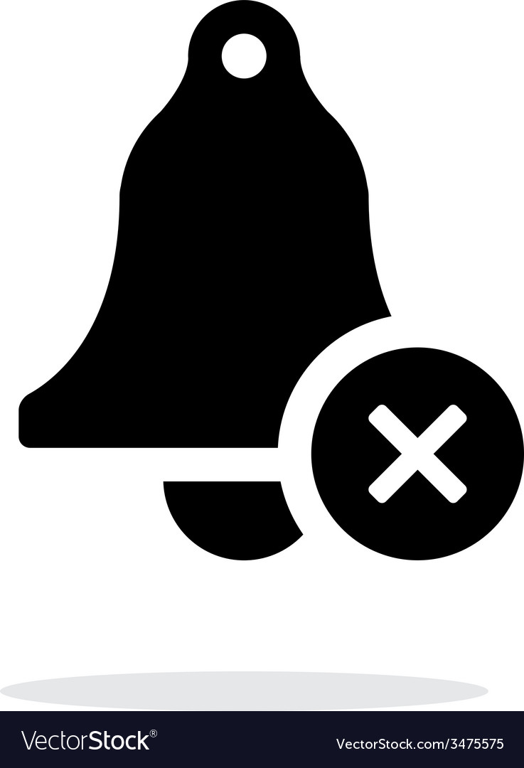 Off ringing bell simple icon on white background vector