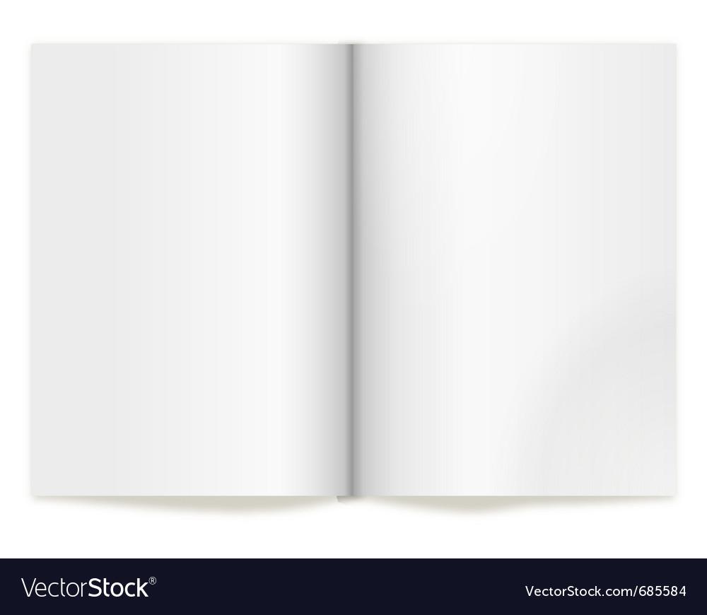 Book spread vector