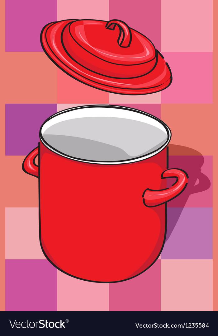 Pot and lid vector