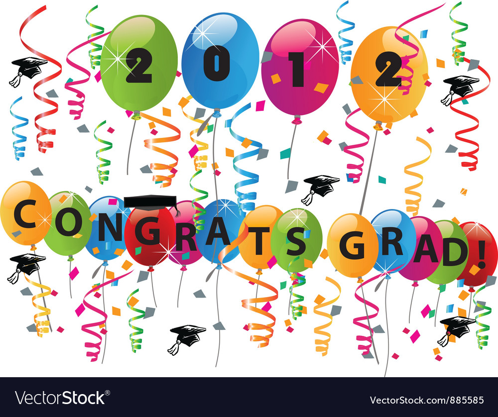 Celebrating graduation day vector