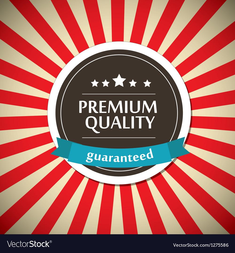 Old round retro vintage label vector