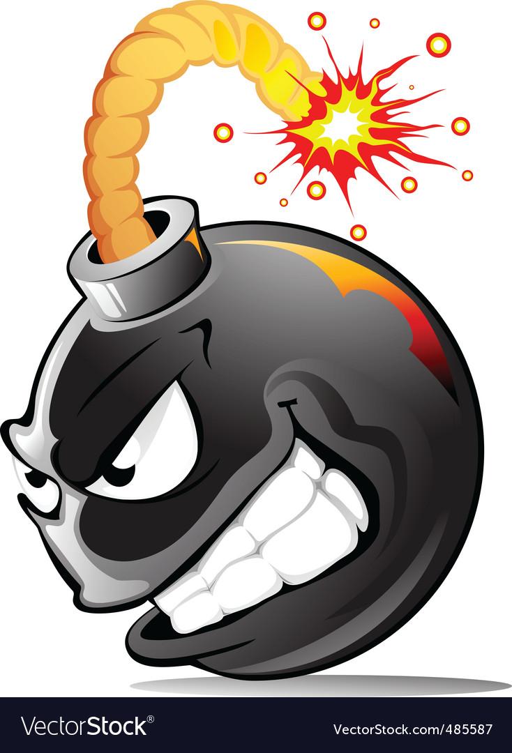Cartoon evil bomb vector