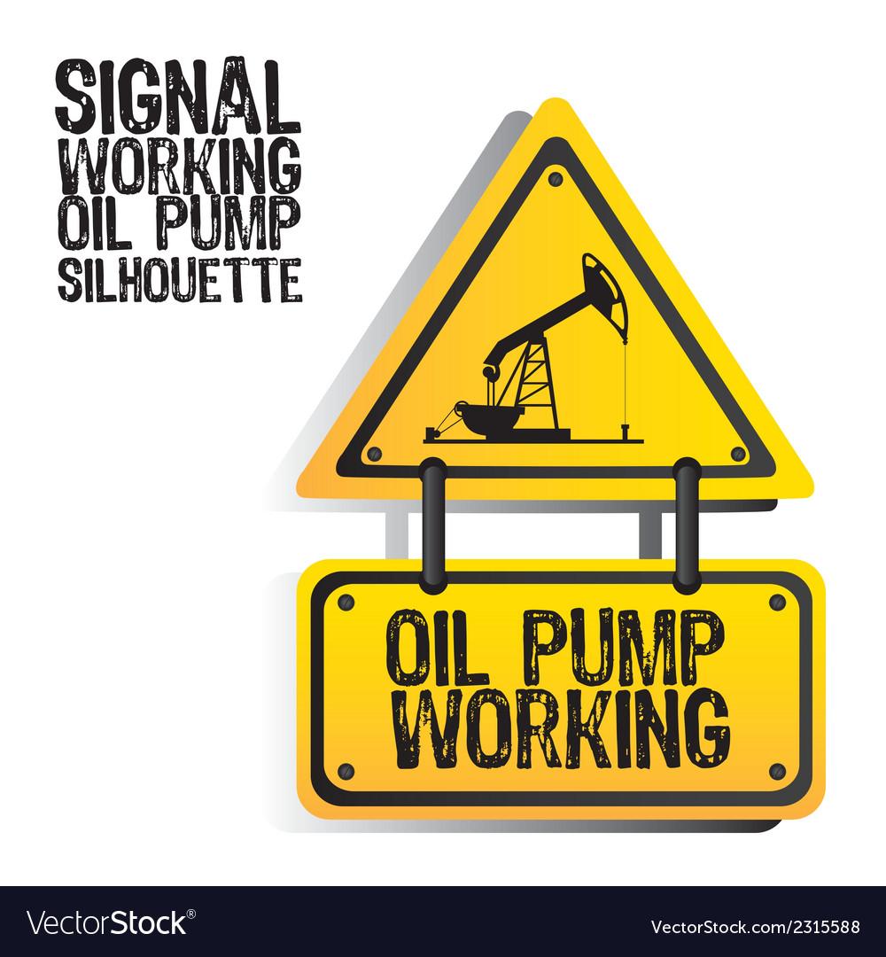 Signal oil pump silhouette vector