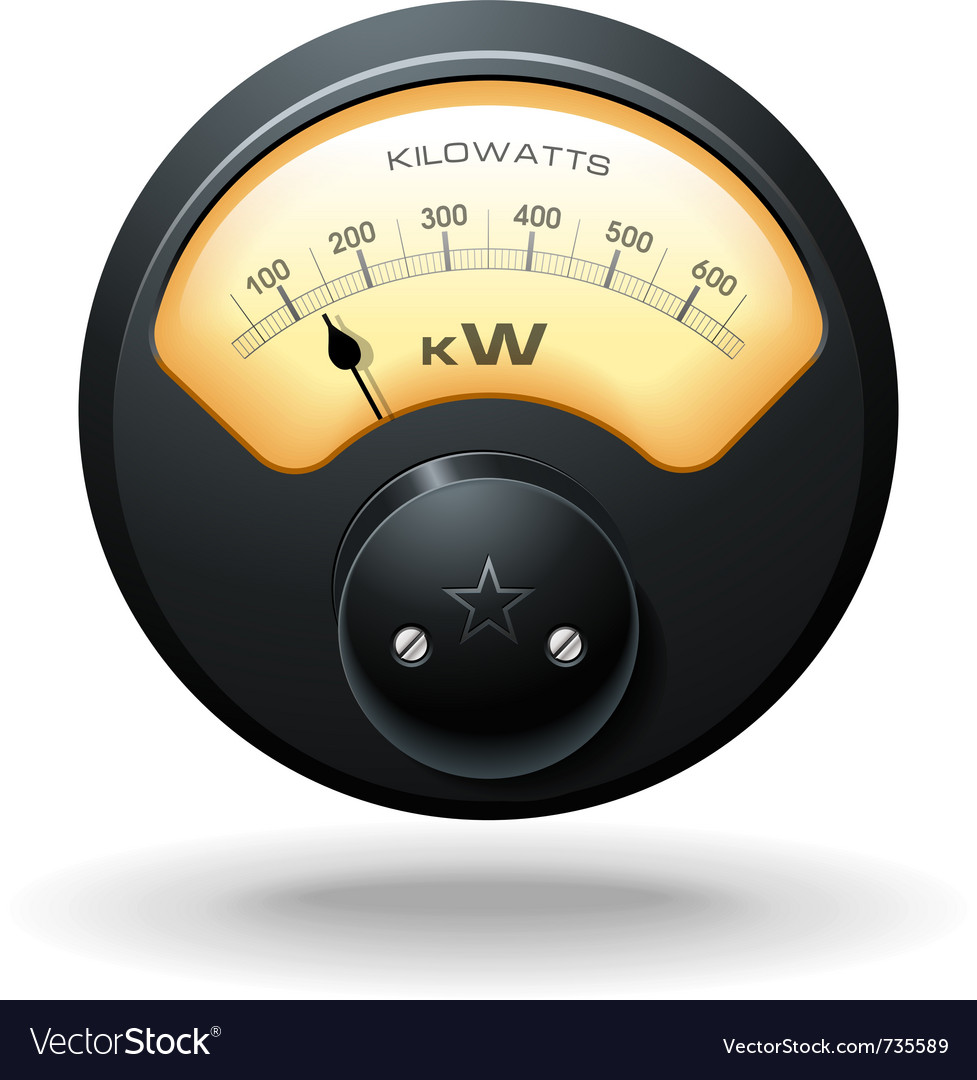 Analog electrical meter realistic detailed vector