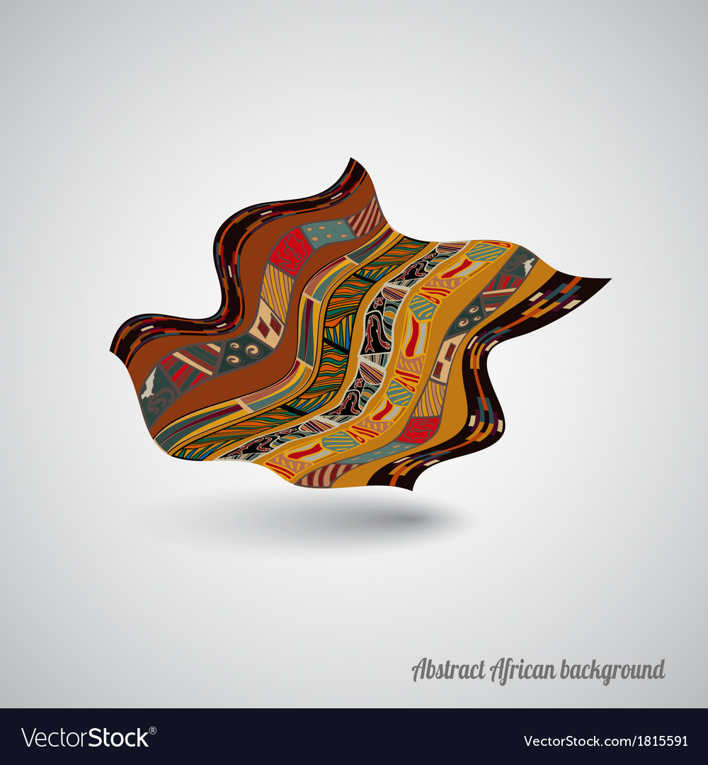 Abstract african backdrop vector