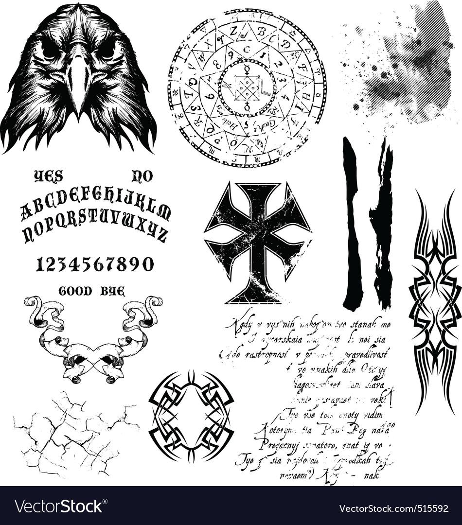 Gothic elements vector