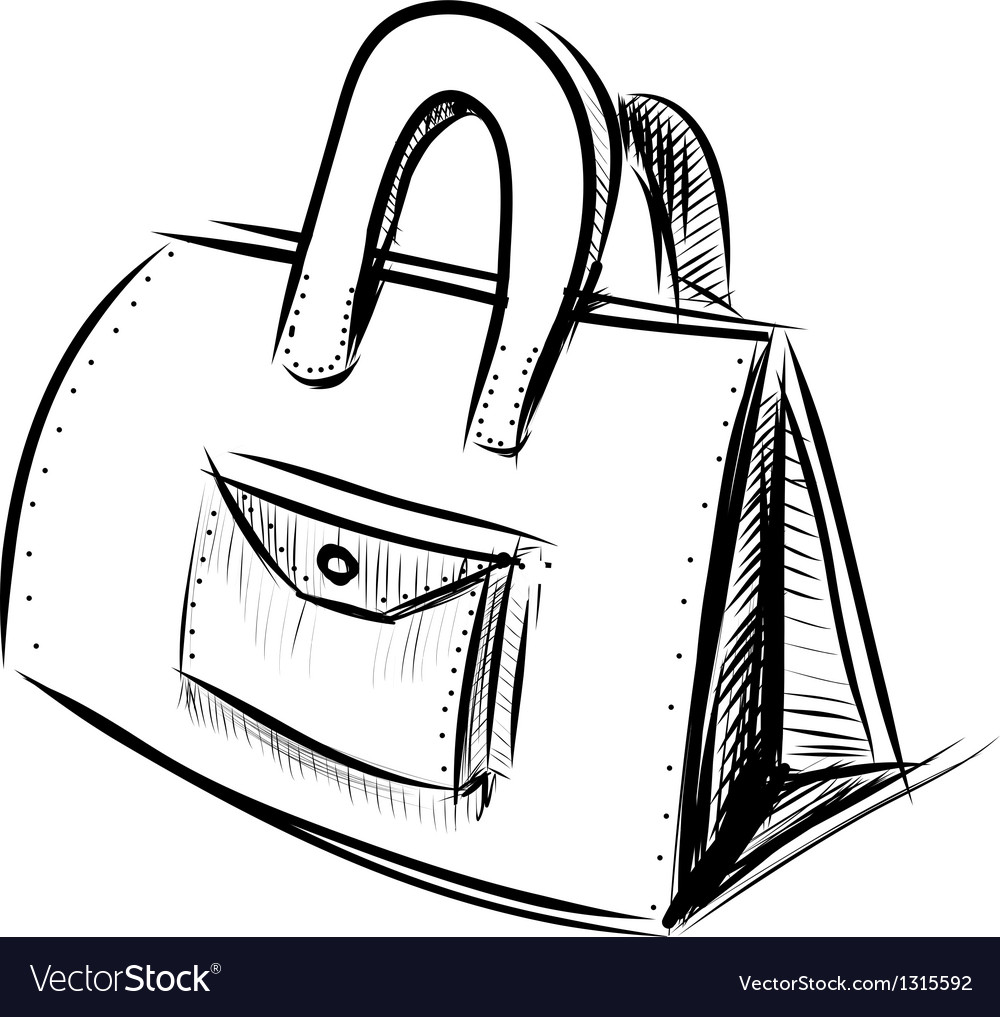 Hand bag isolated on white vector
