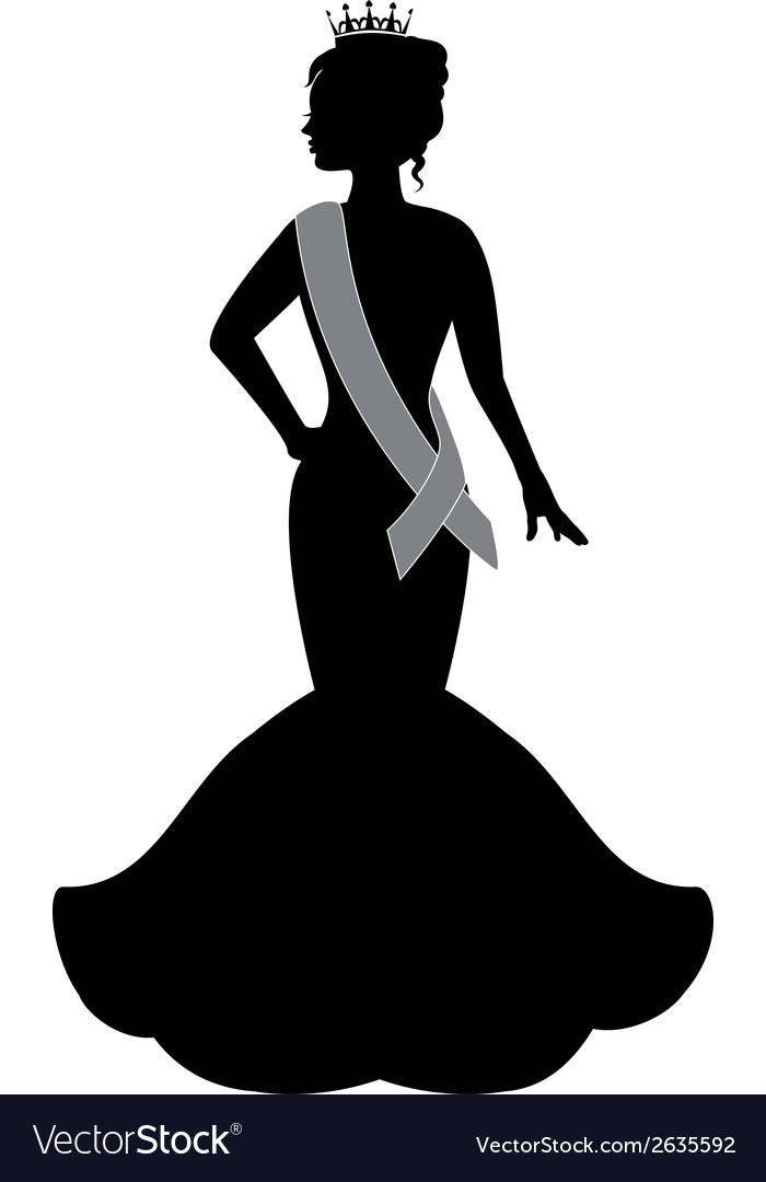 Queen of beauty vector