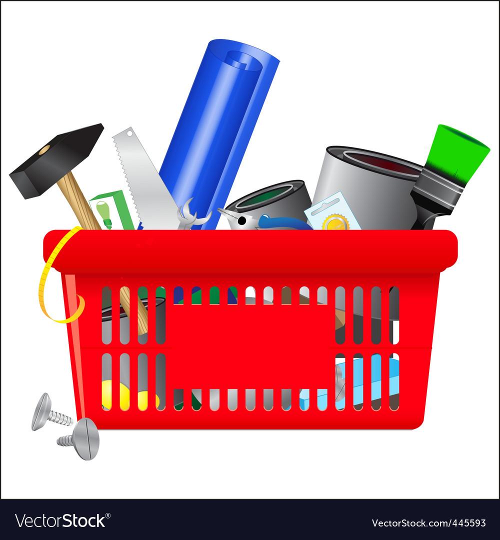 Icon of  shopping cart vector