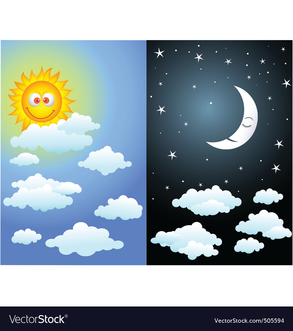 Day and night vector