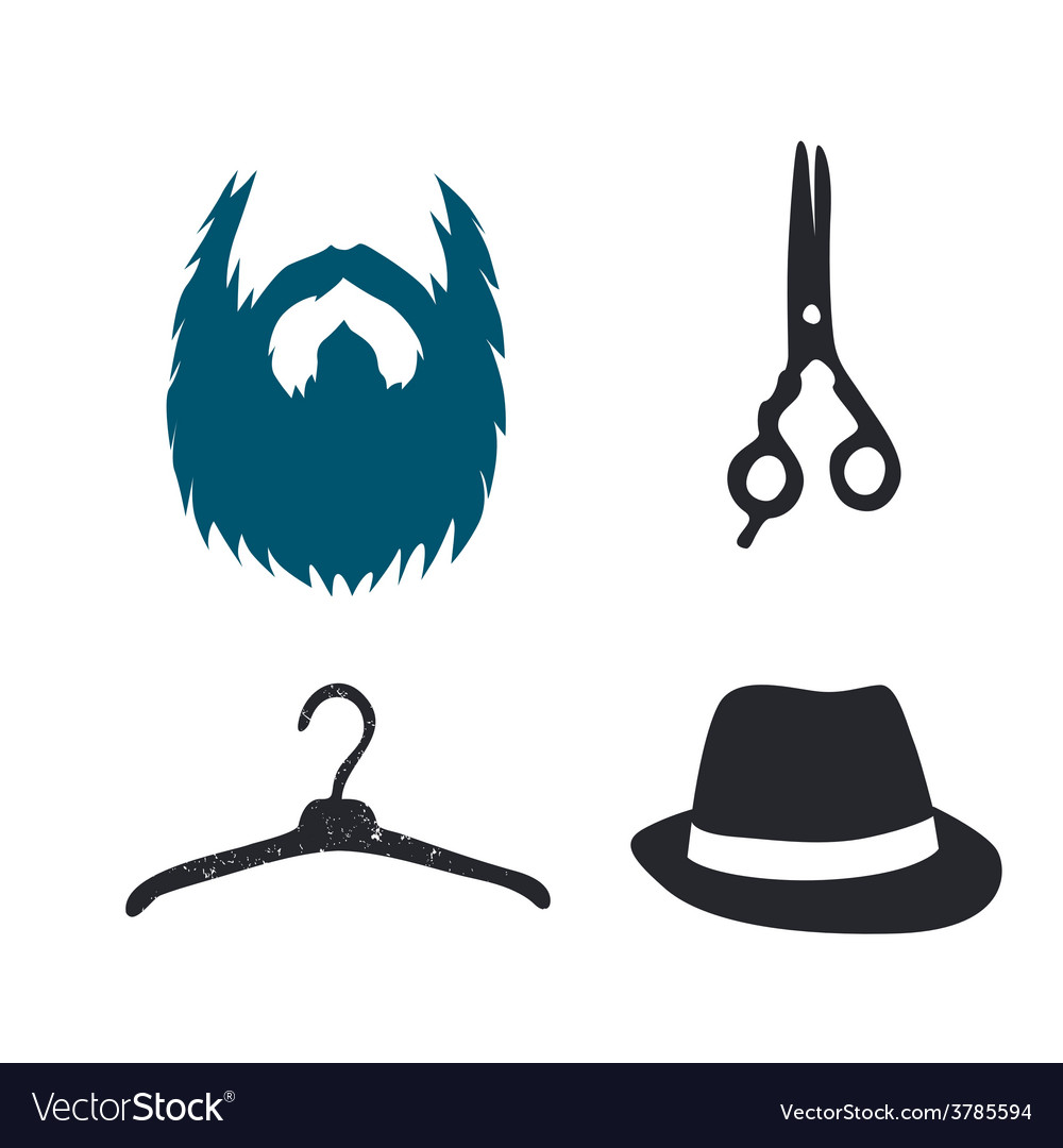Man styling pictograms set vector