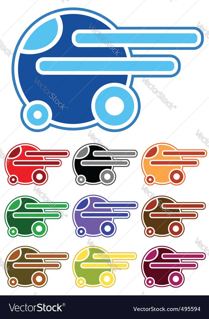 Set of color cartoon cars vector