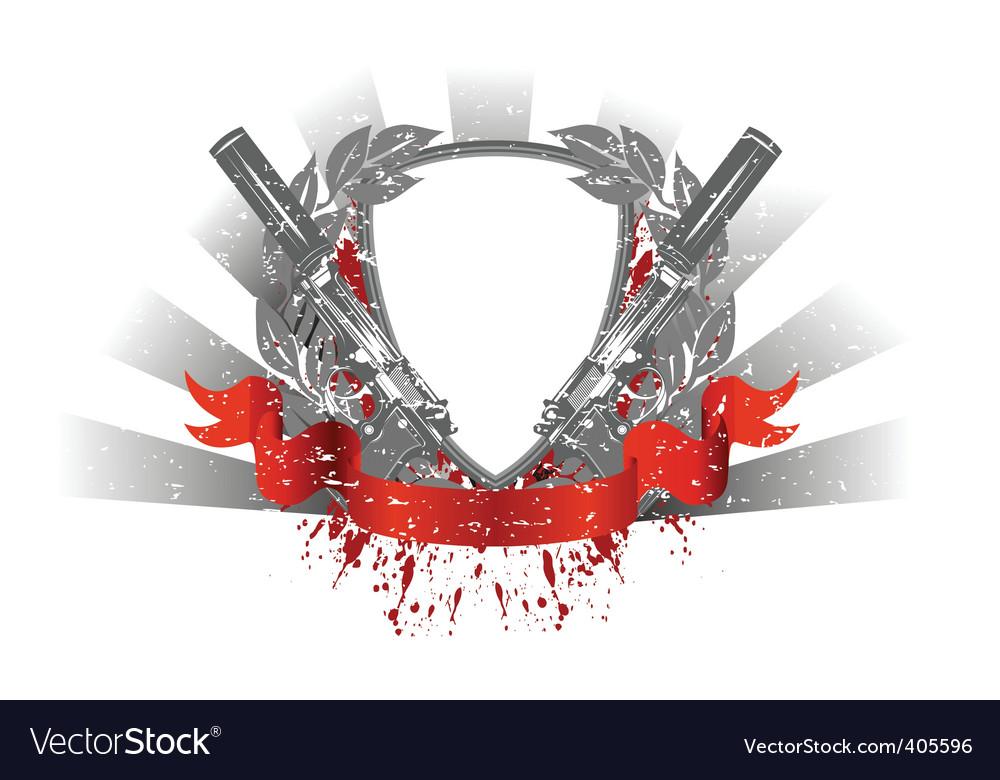 Heraldry pistols vector