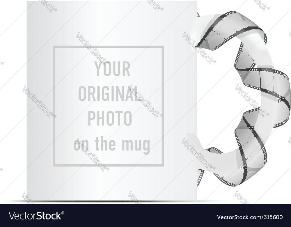 Photo on mug vector