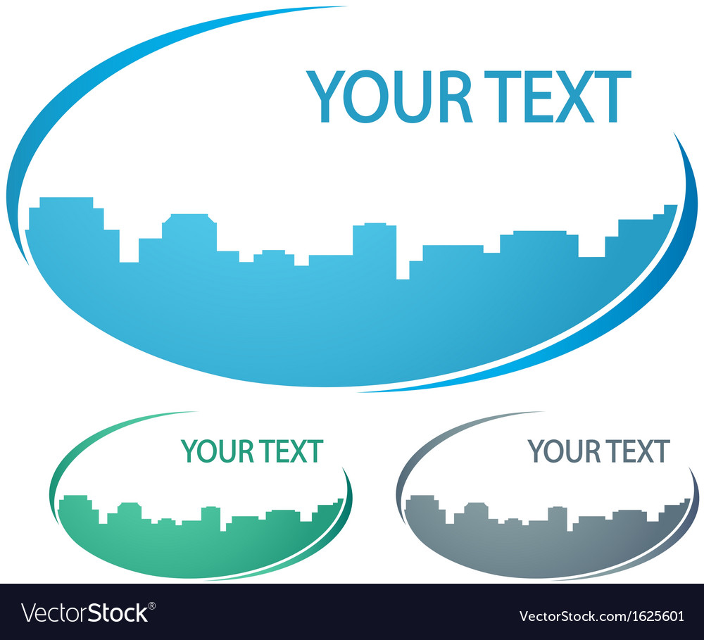 Background with city silhouette vector