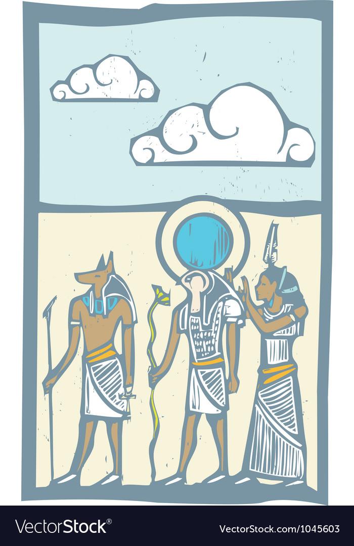 Hieroglyph clouds vector