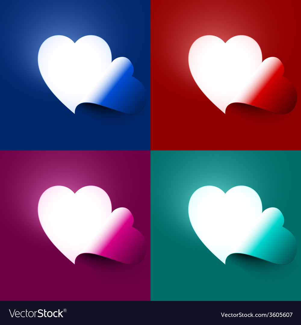 Light through shape heart vector