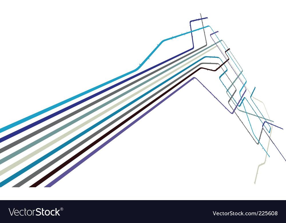 Metro lines vector
