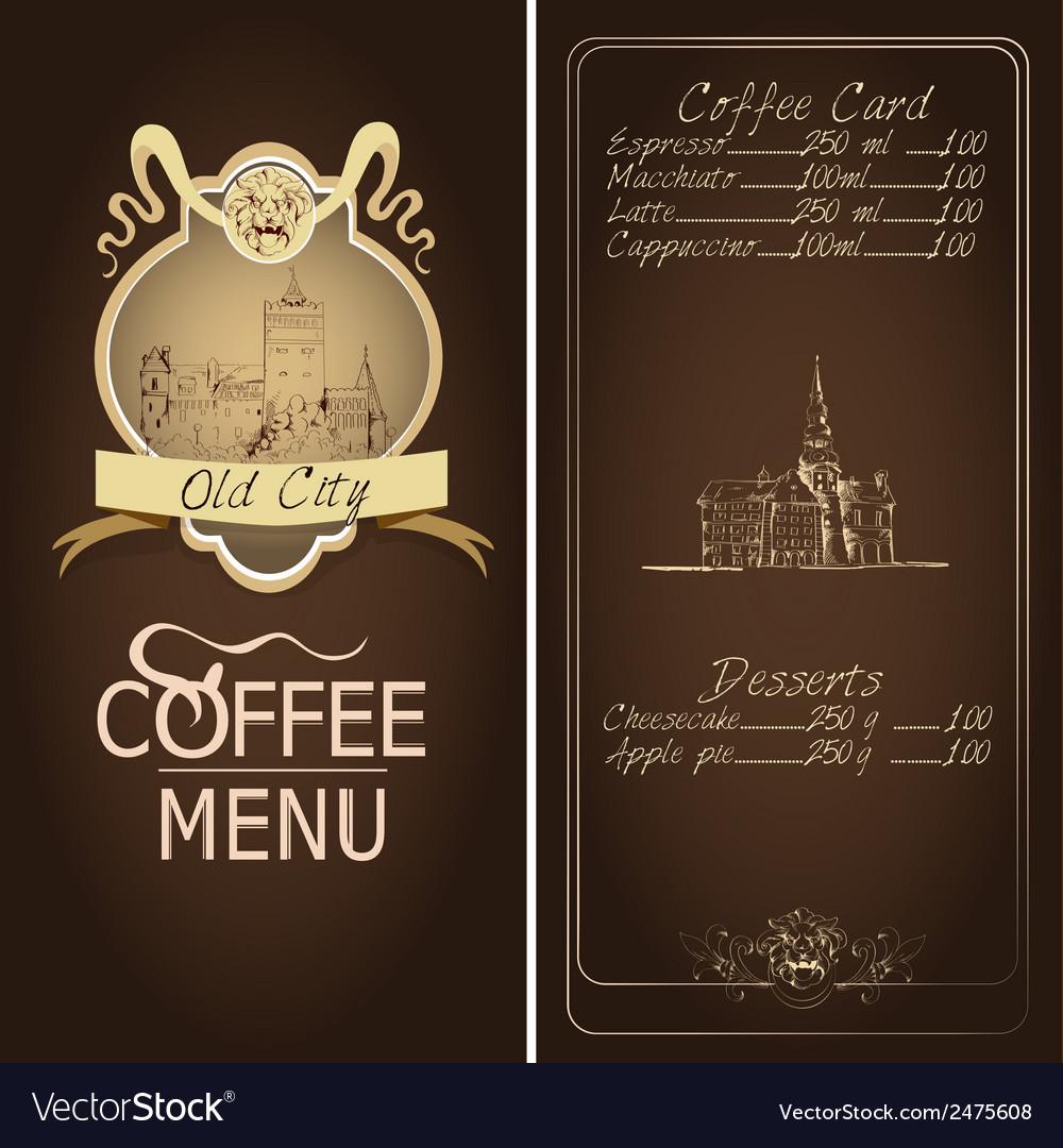 Restaurant old city menu template vector