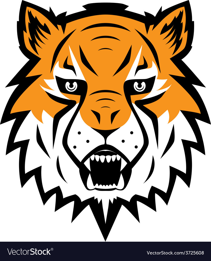 Tiger logo team symbol sport mascot icon isolated vector