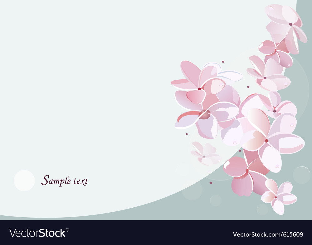 Blossom card vector