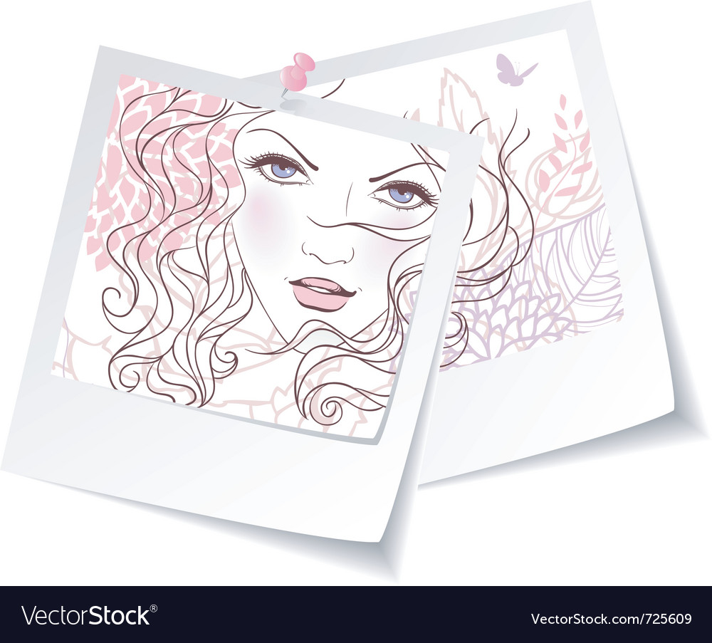 Photo girl vector
