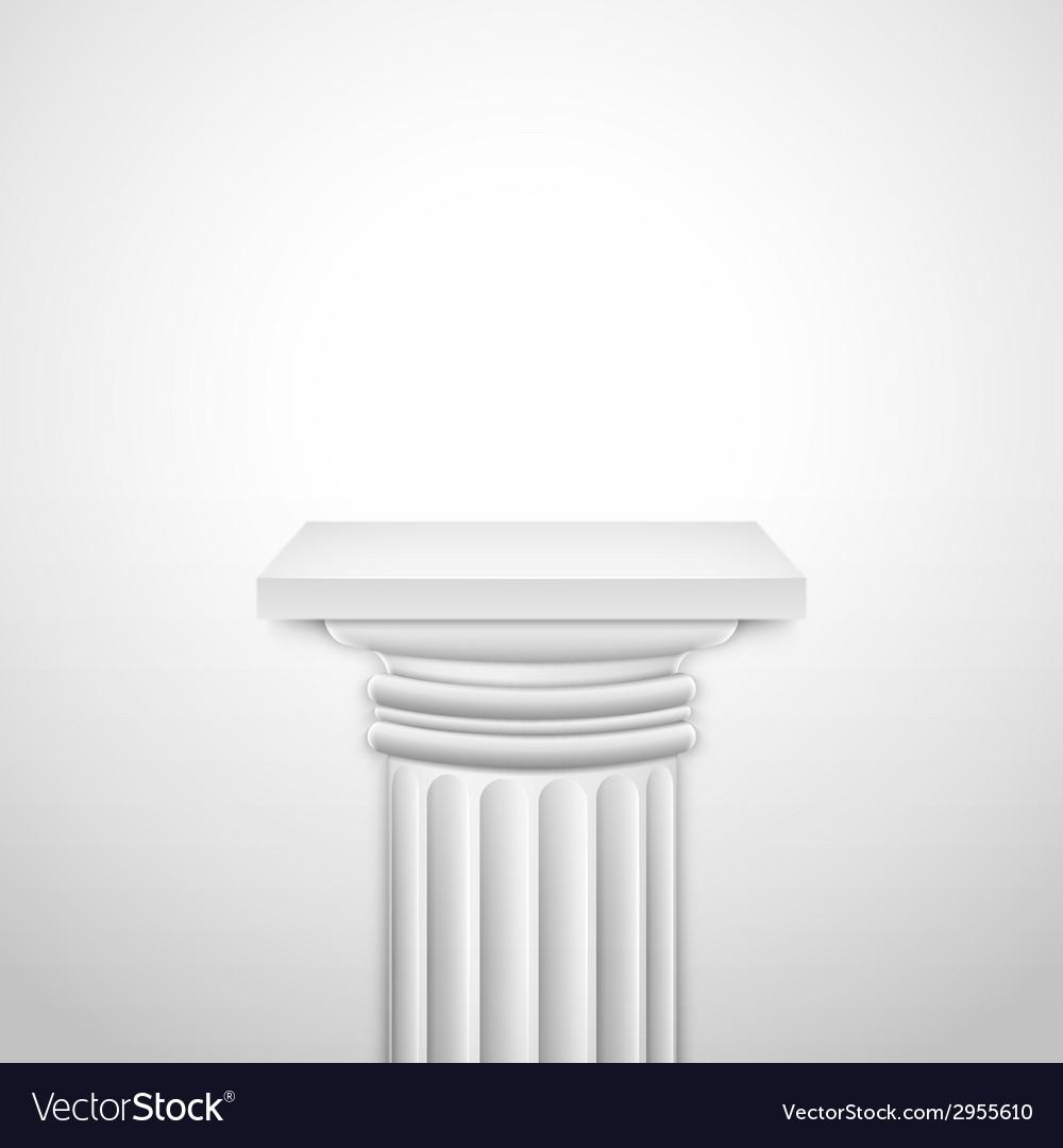 Realistic classic empty white column vector
