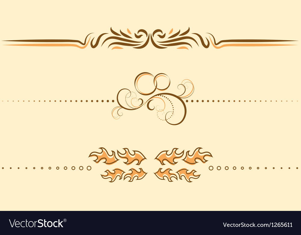 Decoration element for text vector