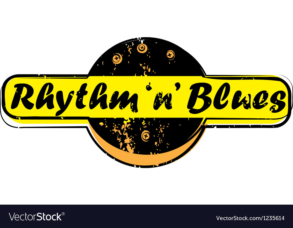 Rhythm and blues stamp vector