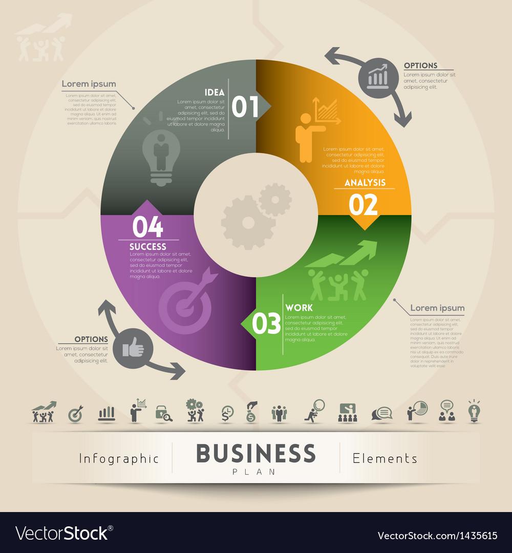 Business plan concept graphic element vector