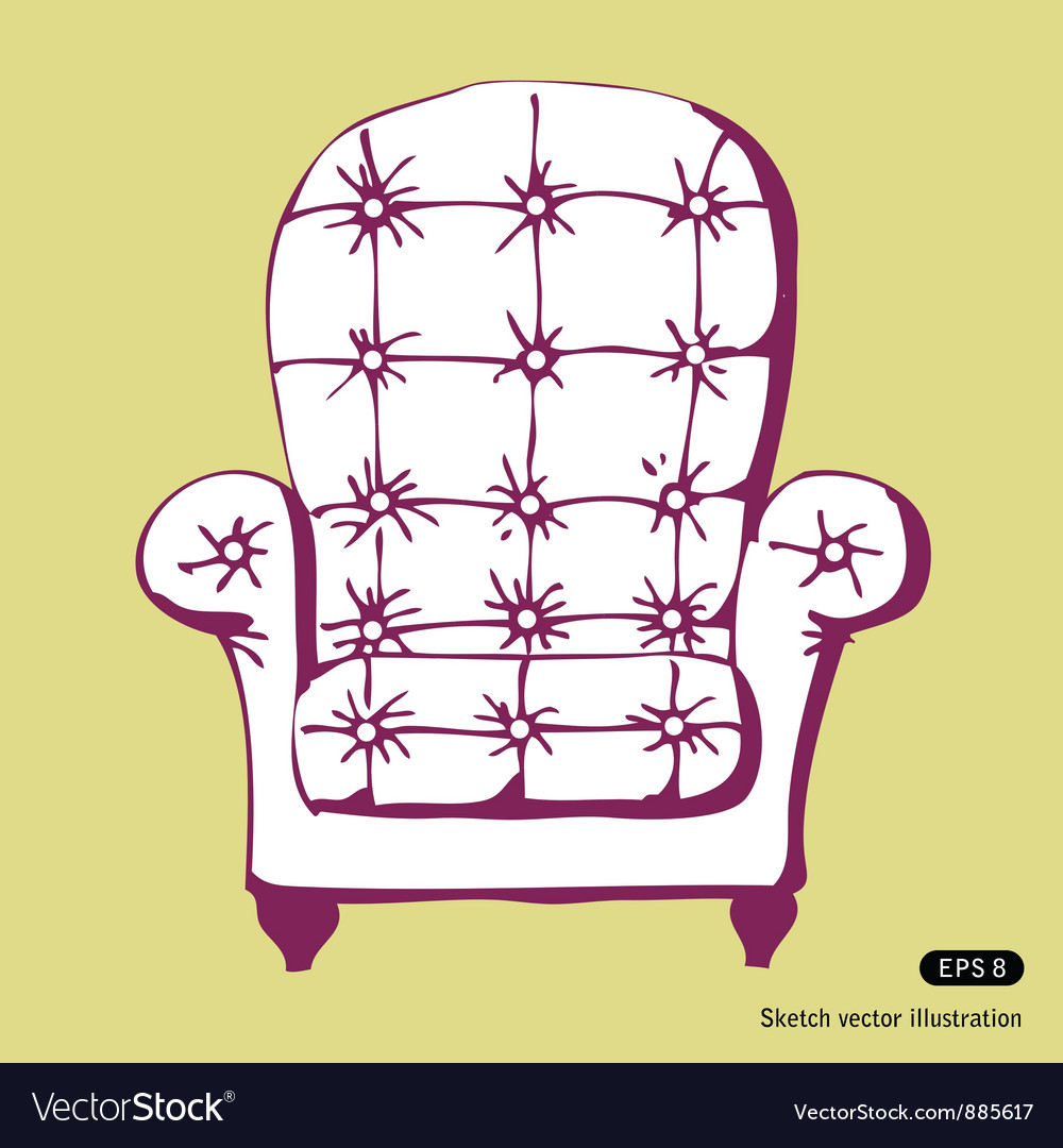 Beautiful chair vector
