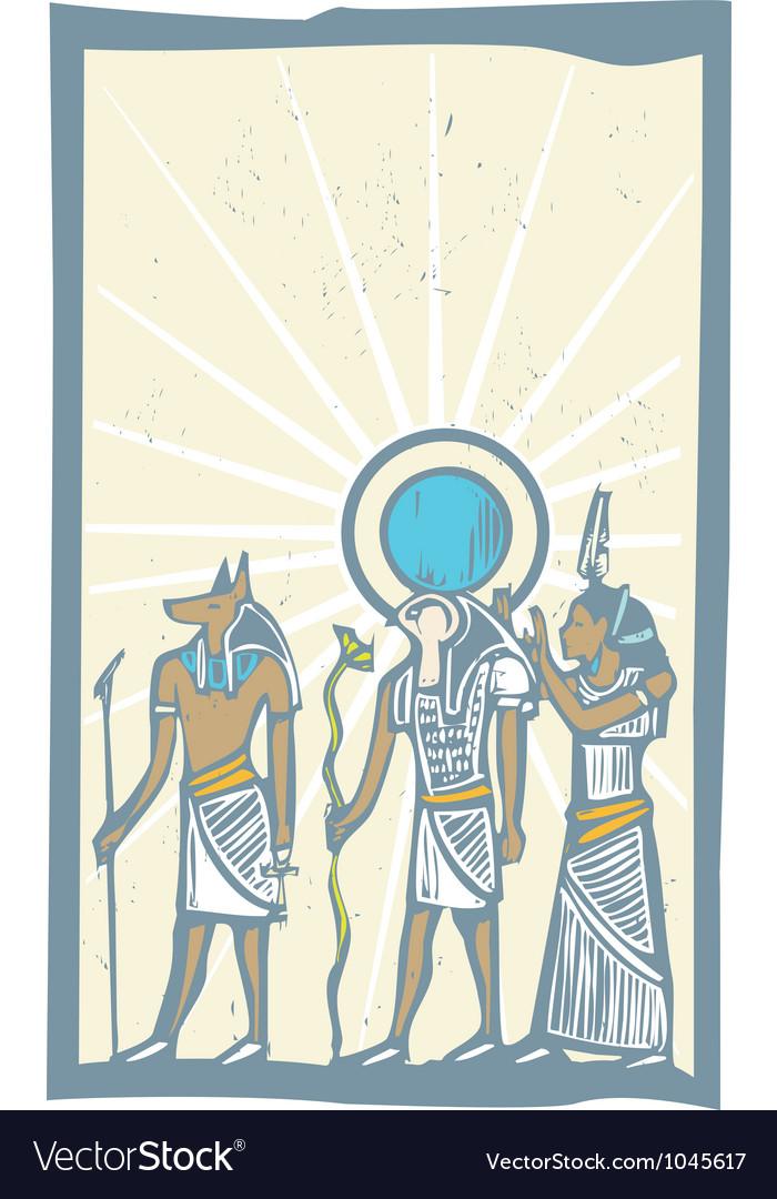 Hieroglyph sun rays vector