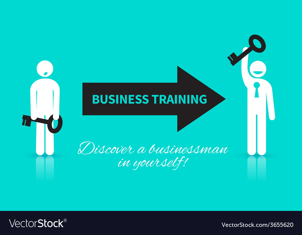 Business icon of man with a key vector