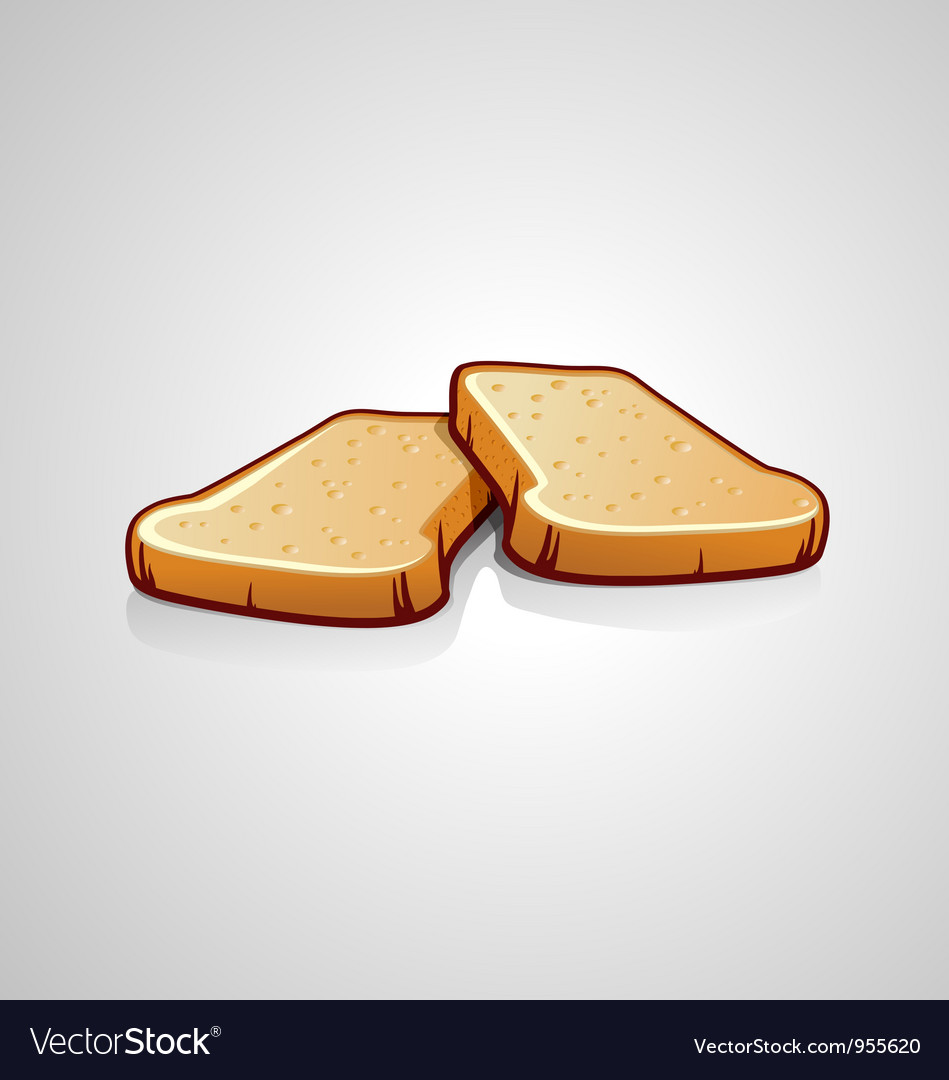 Two slices of bread vector