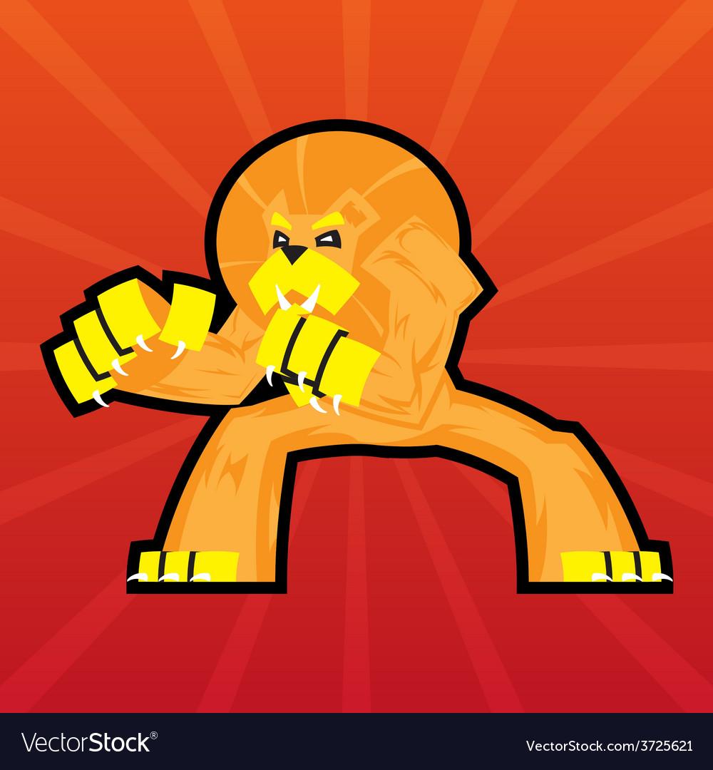 Team logo battle claws lion symbol sport mascot vector